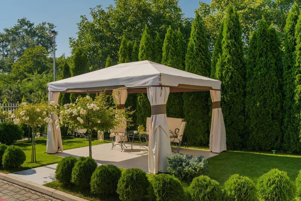réception jardin décoration